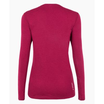 Dámské tričko Salewa Pure logo merino responsive long Sleeve Tee rhodo red 28263-6360, Salewa