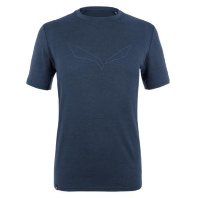 Pánské tričko Salewa Pure logo merino responsive navy blazer 28264-3960
