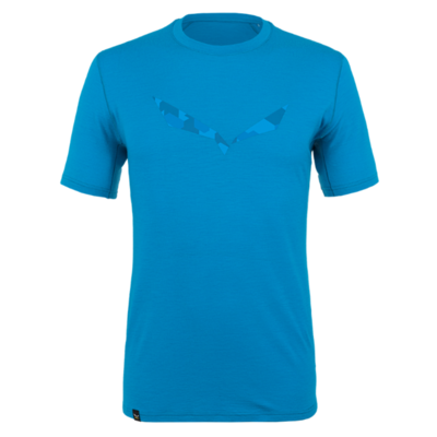 Pánské tričko Salewa Pure logo merino responsive cloisonne blue 28264-8660