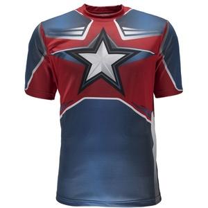 Triko Spyder Men's Marvel S/S Tech Tee Captain America 179208-402, Spyder