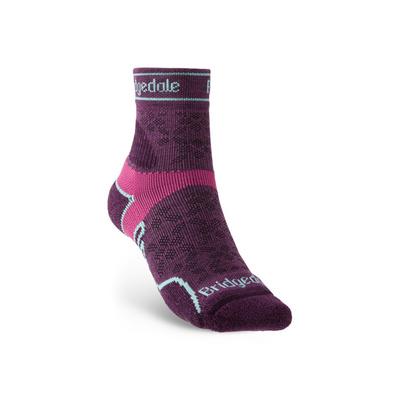 Ponožky Bridgedale TRAIL RUN LW T2 MS 3/4 CREW WOMEN'S Damson/195, bridgedale