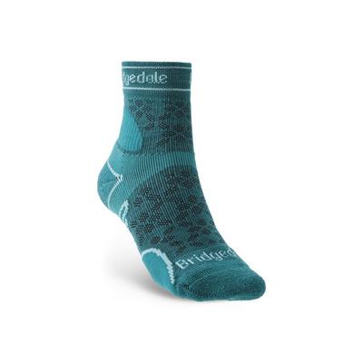 Ponožky Bridgedale TRAIL RUN LW T2 MS 3/4 CREW WOMEN'S Teal/259, bridgedale