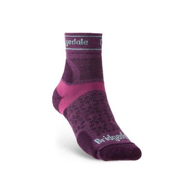 Ponožky Bridgedale TRAIL RUN UL T2 MS 3/4 CREW WOMEN'S Damson/195, bridgedale