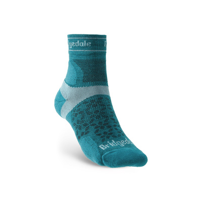 Ponožky Bridgedale TRAIL RUN UL T2 MS 3/4 CREW WOMEN'S Teal/259, bridgedale