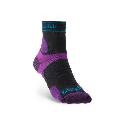 Ponožky Bridgedale TRAIL RUN UL T2 MS 3/4 CREW WOMEN'S Charcoal/Purple/260, bridgedale