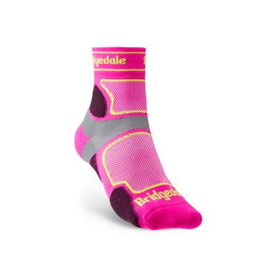 Ponožky Bridgedale TRAIL RUN UL T2 CS 3/4 CREW WOMEN'S Pink/305, bridgedale