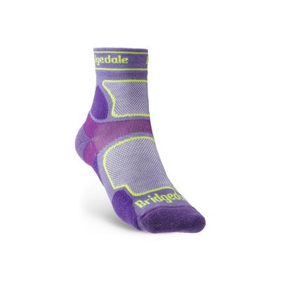 Ponožky Bridgedale TRAIL RUN UL T2 CS 3/4 CREW WOMEN'S Purple/371, bridgedale