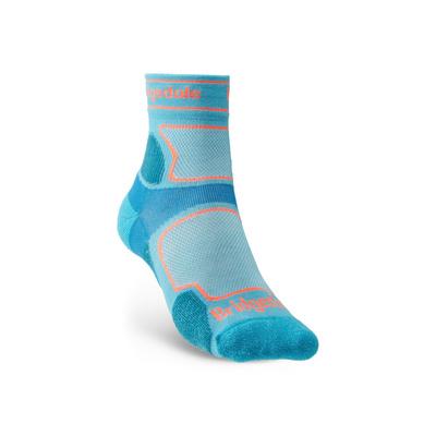 Ponožky Bridgedale TRAIL RUN UL T2 CS 3/4 CREW WOMEN'S Blue/436, bridgedale