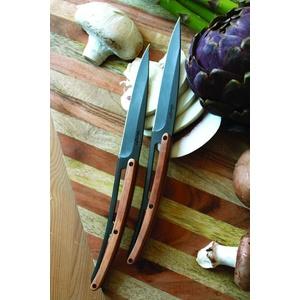 Deejo sada 6 steakových nožů, titanový povrch čepele, olivové dřevo 2FB001, Deejo