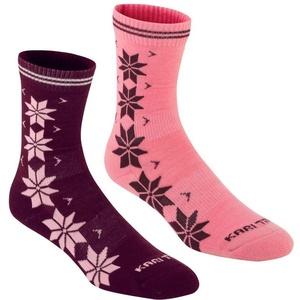 Ponožky Kari Traa VINST WOOL SOCK 2PK Jam, Kari Traa