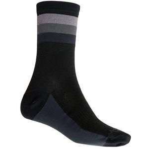 Ponožky Sensor COOLMAX SUMMER STRIPE černá/šedá 20100038