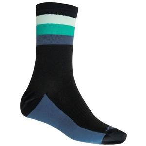 Ponožky Sensor COOLMAX SUMMER STRIPE černá/zelená 20100040