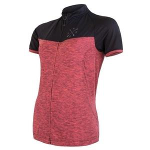 Dámský dres Sensor Cyklo Motion kr.rukáv celozip růžová/černá 20100059