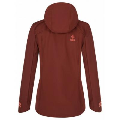 Dámská softshellová bunda Kilpi RAVIA-W tmavě červená, Kilpi