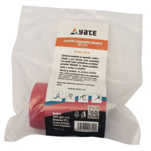 Elastické samofixační obinadlo Yate set 3 ks (2,5 cm x 4,5 m), Yate