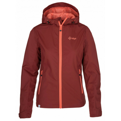 Dámská outdoorová bunda Kilpi ORLETI-M tmavě červená, Kilpi