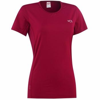 Dámské triko Kari Traa Nora Tee 622638-fancy,  červené