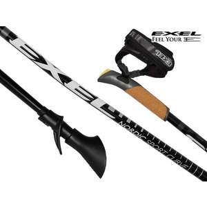 Nordic walking hole Exel NORDIC SPORT CURVE black/silver, Exel