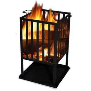 Čtvercové ohniště SOL koš 45x45 cm, Lucifer