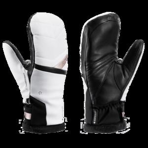 Lyžařské rukavice LEKI Snowfox 3D Lady Mitt white/gold, Leki