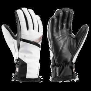Lyžařské rukavice LEKI Snowfox 3D Lady white/gold, Leki