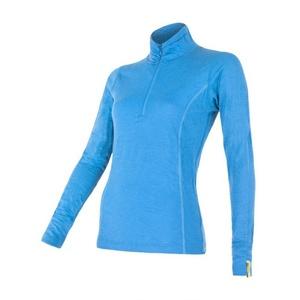 Dámské triko se stojáčkem na zip Sensor Merino Wool Active modrá 12110029, Sensor