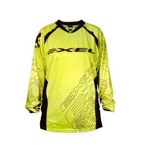 Brankářský dres EXEL G1 GOALIE JERSEY #1 YELLOW/BLACK, Exel