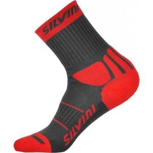 Ponožky Silvini Vallonga UA522 charcoal-red , Silvini