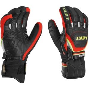 Rukavice LEKI Worldcup Race Coach Flex S GTX black-red-white-yellow 634-80123, Leki