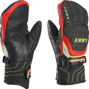Rukavice LEKI Worldcup Race Flex S Junior Mitten black-red-white-yellow 634-80051, Leki