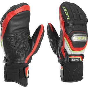 Rukavice LEKI Worldcup Race Titanium S Mitten black-red-white-yellow 634-80183, Leki