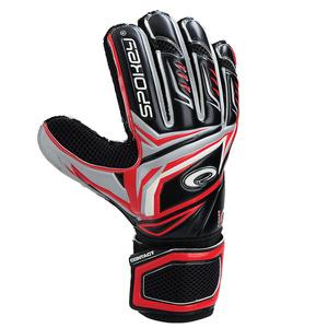 Brankářské rukavice Spokey CONTACT II červené, Spokey