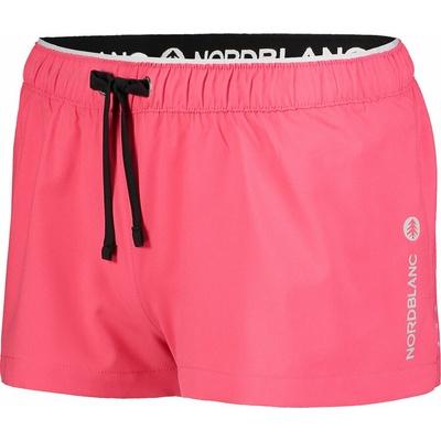 Dámské šortky na běhání NORDBLANC Flounce růžová NBSPL7205_RBP, Nordblanc