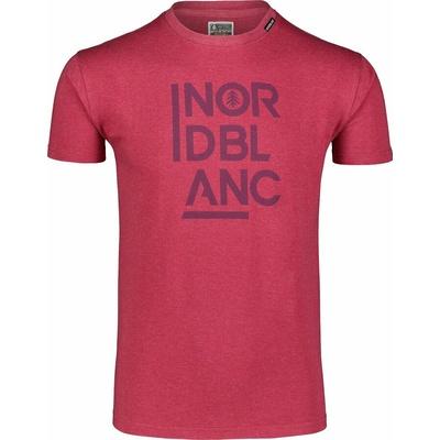 Pánské bavlněné triko Nordblanc OBEDIENT vínová NBSMT7258_HCA