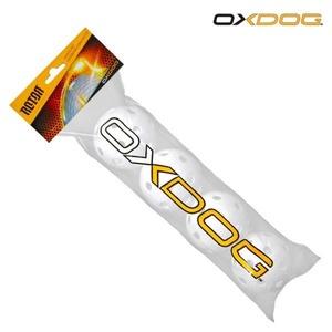 Sada florbalových míčků Oxdog Rotor Ball White Tube, Oxdog