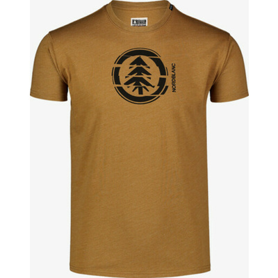 Pánské bavlněné triko Nordblanc UNVIS hnědá NBSMT7392_PUH