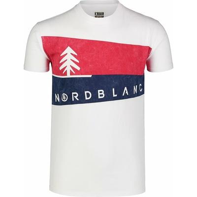 Pánské tričko Nordblanc Graphic bílé NBSMT7394_BLA