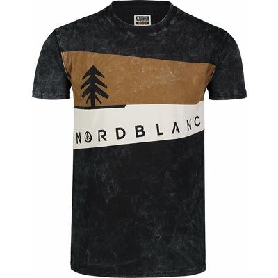 Pánské tričko Nordblanc Graphic černé NBSMT7394_CRN
