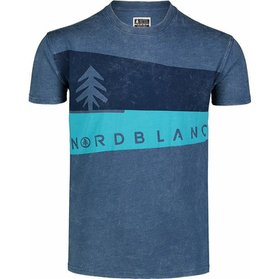 Pánské tričko Nordblanc Graphic modré NBSMT7394_SRM