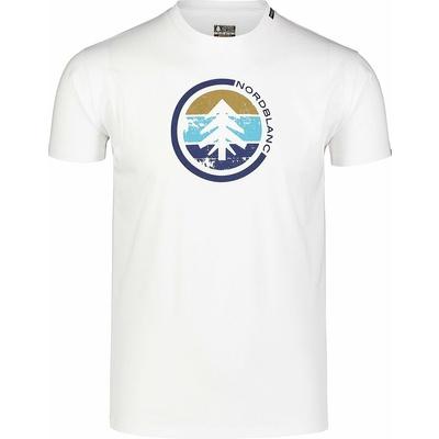 Pánské bavlněné triko Nordblanc TRICOLOR bílé NBSMT7397_BLA, Nordblanc