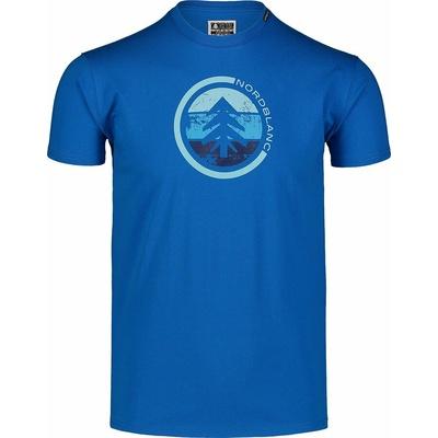 Pánské bavlněné triko Nordblanc TRICOLOR modré NBSMT7397_INM, Nordblanc