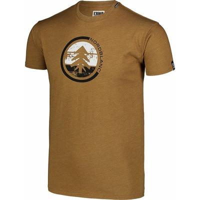Pánské bavlněné triko Nordblanc TRICOLOR hnědé NBSMT7397_PUH, Nordblanc