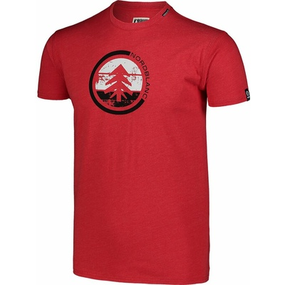 Pánské bavlněné triko Nordblanc TRICOLOR červené NBSMT7397_TCV, Nordblanc