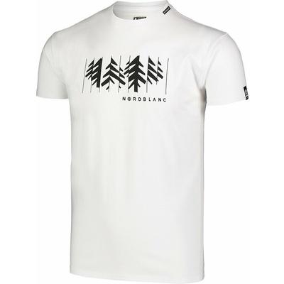 Pánské bavlněné triko Nordblanc DECONSTRUCTED bílé NBSMT7398_BLA, Nordblanc