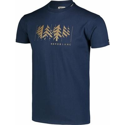 Pánské bavlněné triko Nordblanc DECONSTRUCTED modré NBSMT7398_MOB, Nordblanc