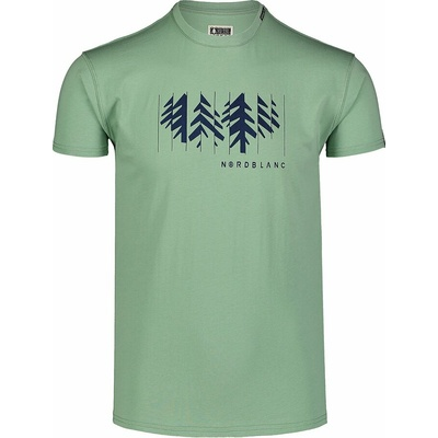 Pánské bavlněné triko Nordblanc DECONSTRUCTED zelené NBSMT7398_PAZ, Nordblanc