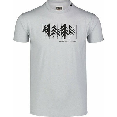 Pánské bavlněné triko Nordblanc DECONSTRUCTED šedé NBSMT7398_SSM, Nordblanc