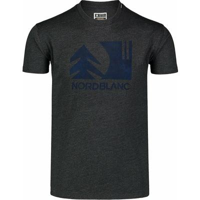 Pánské bavlněné triko Nordblanc TREETOP černé NBSMT7399_CEM