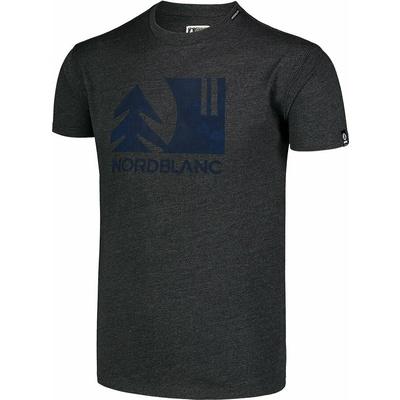 Pánské bavlněné triko Nordblanc TREETOP černé NBSMT7399_CEM, Nordblanc