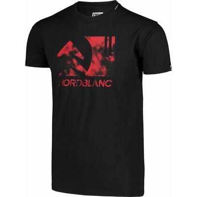 Pánské bavlněné triko Nordblanc TREETOP černé NBSMT7399_CRN, Nordblanc